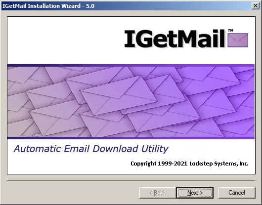 The IGetMail Installation Wizard walks you through installling this POP3 email downloader on your Exchange Server.